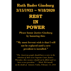 RBG - In Memorium (with McConnell quote)