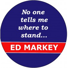 """Ed Markey """"Where to Stand"""" Button"""
